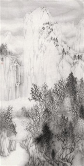 picturesque rivers and mountains by xu huaxin