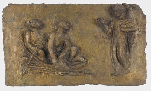 relief mit biblischer szene by gustave piguet