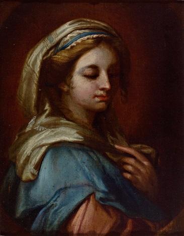 bildnis einer weiblichen heiligen  by anonymous italian 17