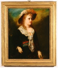 portrait of mrs. james carroll frazer, nee van rensselaer, last child born in the van rensselaer home by george da maduro peixotto