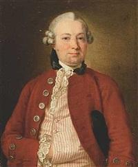 portræt af lagmand gram, senere landshøvding i sverige, i rød jakke og stribet vest by ulrika (ulla frederika) pasch