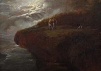 gewitterstimmung über der steilküste by johann georg volmar