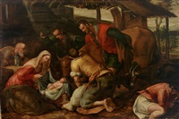 die anbetung der hirten by francesco bassano