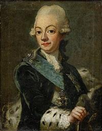 porträtt av kung gustav iii och hans maka drottning sofia magdalena (pair) by ulrika (ulla frederika) pasch