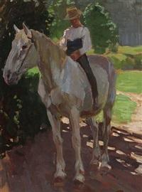 reiter zu pferde by hans von faber du faur