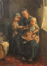 junge mutter mit zwei kindern by jacob simon hendrik kever