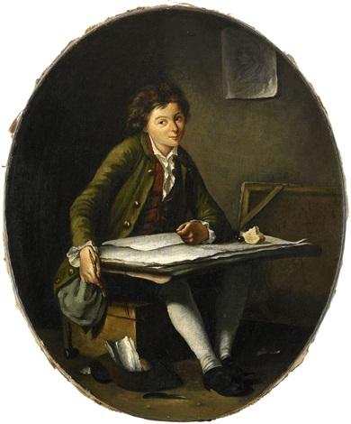 den unge tecknaren by françois hubert drouais
