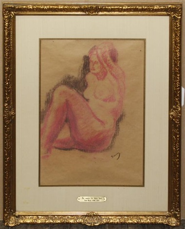 reclined nude by andré derain