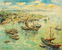 渔港之春 (spring of fishing port) by lin dachuan