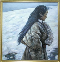 tibetan girl by al xuan