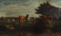 kühe auf der weide by johannes hubertus leonardus de haas