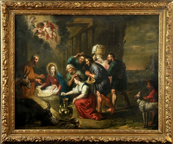 anbetung der hirten nach peter paul rubens 1577 1640 by willem van herp the elder