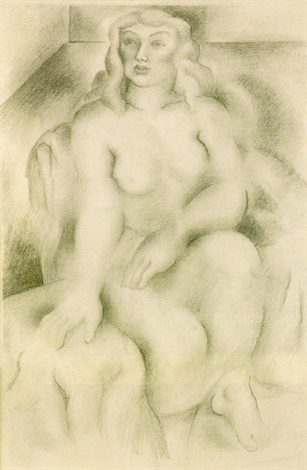 seated figure undressing by lucretia van horn