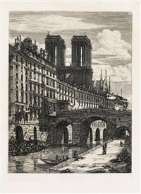 le petit pont by charles meryon