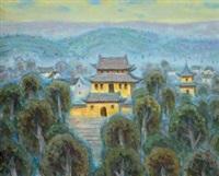 深山古寺 (mountain temple) by xu junxuan