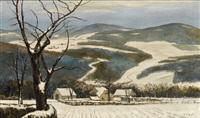 winterliche landschaft by karl julius joest