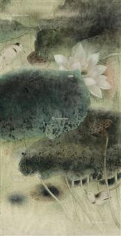 荷塘双鸟 by jiang hongwei