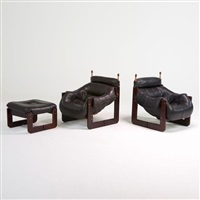 two lounge chairs by percival lafer
