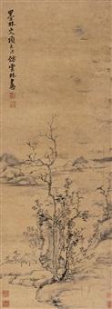 仿云林山水 (landscape) by xiang yuanbian
