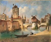 ansicht von straßburg (?) by johann baptist kreitmayr