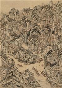 landscape by zhu derun