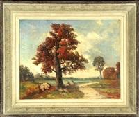 herbstlandschaft mit bäumen by robert humblot