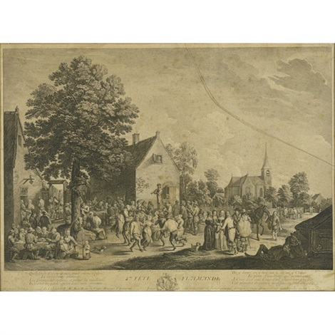 4eme fete flamande along with three others 4 works by david teniers the elder