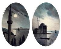 ortaköy cami - iki adet (2 works) by onnik der azarian