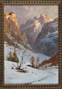 verschneites hochgebirge by georg janny