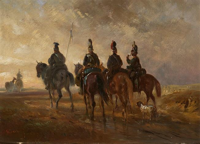 ein fähnlein kavallerie auf erkundungsritt by alois bach