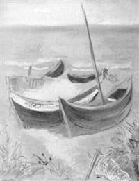 fischerboote am strand by walter lindgens