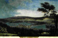 deuzième vue de la chaux-de-fonds by henri courvoisier-voisin