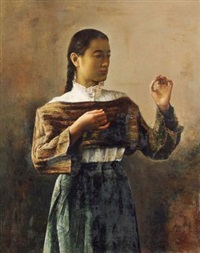 少女 (young girl) by guo runwen