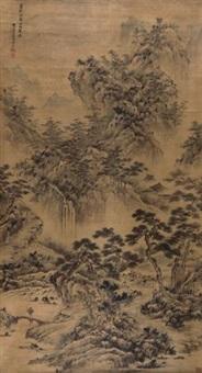 万松晴翠图 by wang hui