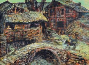 重庆远郊的村子 by luo zhongli