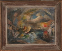 venetian landscape by abraham harriton
