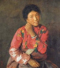 藏女 (tibetan woman) by xu weixin