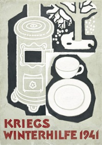 kriegs winterhilfe (poster) by theo modespacher