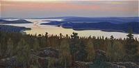 sommarkväll över glafsfjorden - värmland by hilding werner