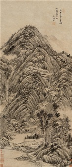 landscape by wang shimian