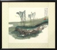 birds in landscape by ren guangrong