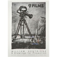 for exhibition 9 drawings for projection by william kentridge