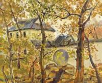 秋至古园 (the ancient garden in autumn) by xu junxuan