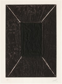 la porte (sold with 257b, c&d; set of 4) by antoni tàpies