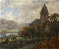 village by the rhine by carl jutz the younger
