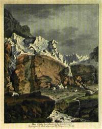 une partie des glacieres du grindelwald (after johann ludwig aberli) by matthias pfenninger
