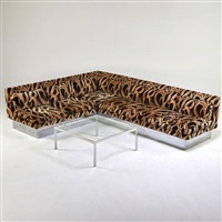sectional sofa and coffee table by milo baughman
