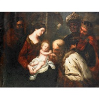 the adoration of the magi by orazio ferraro