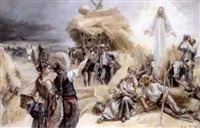 jesus erschient den bauern auf dem felde by josé miralles darmanin
