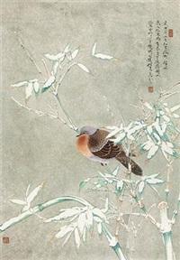 雪仃寒禽 by ren zhong